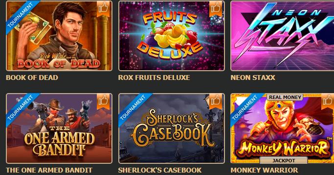 автоматы казино рокс
